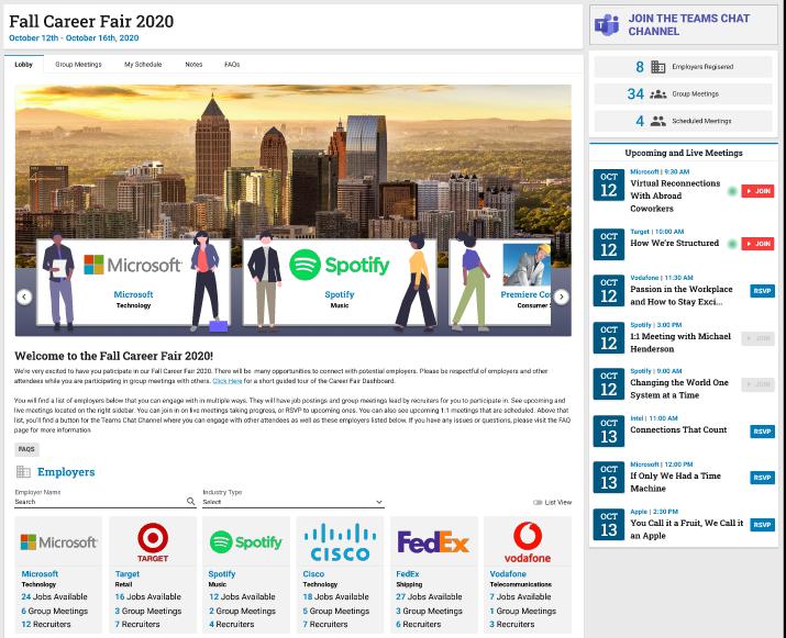 Virtual Career Fair on Microsoft Teams